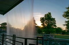 Veiled Sunset (tquist24) Tags: longexposure trees sunset sky tree water geotagged evening waterfall nikon unitedstates indiana elkhart hff nikond5300