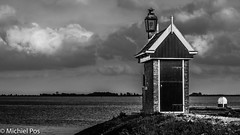 Alone (MPos Photos) Tags: sky house lake holland water netherlands clouds meer nederland wolken lucht huisje volendam
