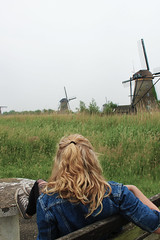 The Mills of Kinderdijk, Holland (meganejay) Tags: travel holland green netherlands europe windmills study abroad denim mills kinderdijk