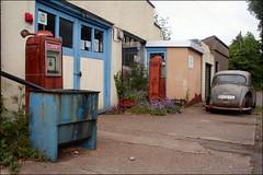 Abandoned Filling Station LXXV (Canis Major) Tags: abandoned rust 2000 outdoor 500 1000 rustycar fillingstation frenchay revisit petrolpumps