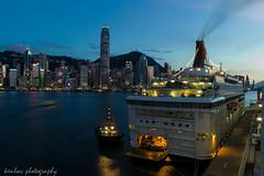 departing... ('kenlwc - ) Tags: city travel cruise blue sky urban hk night landscape star slow 28mm ken shutter leung victoriaharbour ladscape kenleung leicaelmaritm28mmf28 leicam9p elmarit28mmv3 kenlwc