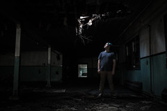 What's Up There? (Evan's Life Through The Lens) Tags: camera friends light 2 two urban house building abandoned weather contrast forest dark fun grey woods day break gloomy mark grunge clarity adventure explore ii 5d enter exploration mk ware urbex