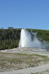 Old Faithful geyser, Yellowstone (David A's Photos) Tags: oldfaithful yellowstonenationalpark wyoming geyser hotsprings uppergeyserbasin june2016