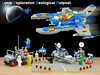 Updated Lunar Exploration Geological Outpost (billyburg) Tags: lego space lunar exploration geological outpost ll1923 surface skimmer suv utility vehicle hoverbot radar moon earth nasa classic benny spaceman spacewoman astronaut transyellow mutt play