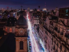 From home (karinavera) Tags: travel nikond5300 urban night street calle argentina azcuenaga buenosaires once balvanera cityscape longexposure church city buildings downtown lights microcentro aerial community architecture skycrapers view exclusive caba drone