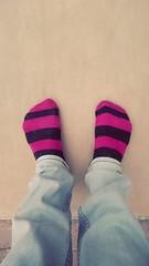 Feet at Night: No.25 (WatermelonHenry) Tags: feet socks night garden stripes pair nighttime paving pairs levis stripeysocks feetatnight greydenim