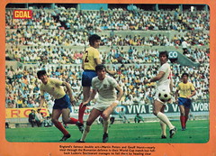 Goal Magazine - 27/06/1970 - Back Cover Page (The Sky Strikers) Tags: goal magazine world cup special mexico 1970 greatest soccer weekly magzine 1s 6d