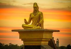 Glowing in Glory!!! (Renji's SnapShots) Tags: thiruvalluvar statue sunset mahabalipuram mamallapuram tamilnadu india