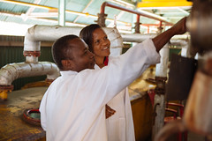 2016-02-16_TZ_Arusha_15 (IFPRI-IMAGES) Tags: tanzania arusha womeninscience womeninagriculture laboratory factory instructor technician tech processingplant