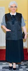 Ingrid022510 (ingrid_bach61) Tags: pleatedskirt faltenrock waistcoat weste bowblouse schleifenbluse mature