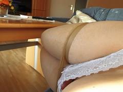 CIMG0415 (comicstar1) Tags: rossdresser pantyhose legs panty slip crossdresser