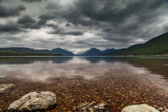 Lake McDonald - Glacier National Park (michaelraleigh) Tags: landscape f28l range closeup reflection mountains 2035mm glacier clouds sky trees summer national serene beautiful secluded infocus park highquality outdoors green montana canon lake mountain