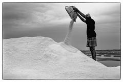Salt extraction (rameshsar) Tags: alamparai marakannam surfing fuji xt1 salt menatwork chennai clouds