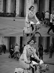 [La Mia Citt][Pedala] con il BikeMi (Urca) Tags: milano italia 2016 bicicletta pedalare ciclista ritrattostradale portrait dittico bike bicycle nikondigitale mir biancoenero blackandwhite bn bw nn 89156 bikemi bikesharing