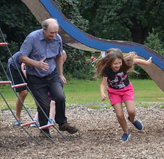 Run Grandad Run (hapsnaps) Tags: hapsnaps hampshire southampton 2016 summer southamptoncommon game run grandchildren