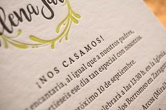 Helena & Javier (El Calotipo) Tags: invitaciones invitations letterpress serigrafa silkscreen printing design wedding boda stationary
