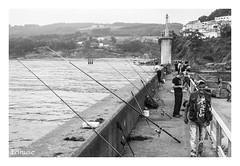 El pescador (Natalia Lozano) Tags: bn bw blancoynegro bnw pescador fisher monochrome moncromo asturias sea mar puerto port lastres