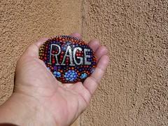 RAGE (suenosdeuomi) Tags: objettrouve found foundobject pebble rock stone rage emotion trump nevertrump