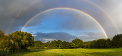 Seeing double (Keartona) Tags: rainbow doublerainbow spectacular beautiful weather october charlesworth derbyshire england sky horses field rural countryside colourful arc