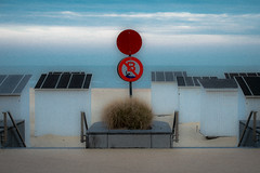 BELGIUM (WeVe1) Tags: noordzee symmetrie fujifilm xpro1 ostend beach cabins northsea mer