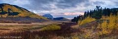 Sunrise on Washington Gulch (OJeffrey Photography) Tags: washingtongulch crestedbutte co colorado coloradorockymountains mountains fallcolors aspen golden sunrise stormclouds ojeffrey ojeffreyphotography jeffowens nikon d800 panorama pano