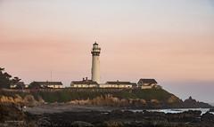 Pigeon Point Lighthouse (claugrodriguez) Tags: california pigeonpoint unitedstates beach coast coastline dusk lighthouse ocean seashore sunset pescadero