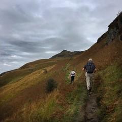 Ptarmigan comes in sight (barronr) Tags: scotland lochlomondthetrossachsnationalpark benlomond theptarmigan