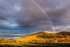 Rainbow over Castlerigg Stone Circle (Sandy Sharples) Tags: rainbow sunset weather clouds castlerigg stonecircle englishheritage keswick cumbria lakedistrict history mountains landscape neolithic england travel