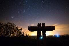 monumental...... (Sunshinenshadows) Tags: stars starrynight clouds streetlights countryside darkness constellations newdeer aberdeenshire scotland