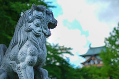 Point of eyes (sonica@2006) Tags: point eyes there is pair stone guardian dogs stare it takashima castle japan nagano xm1 xf35mm fujifilm fujinon