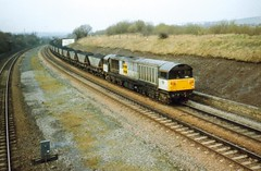 Codnor Park, 12 March 1993 (elkemasa) Tags: 1993 class58 codnorpark
