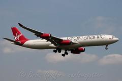 G-VFAR Virgin Atlantic Airways Airbus A340-313X (carlowspotter) Tags: uk london english plane airplane flying airport britain h