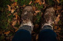 _DSC3008 (10MFH) Tags: autumn fall feet leaves mud boots muddyboots