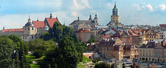 Panorama of the city of Lublin - the old city