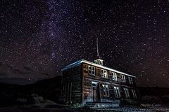 Bodie School House (stephencurtin) Tags: california school light sky house painting stars long exposure factory bodie challenge the thechallengefactory