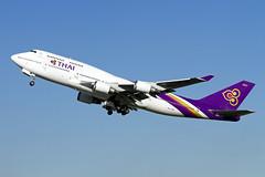 HS-TGG_Boeing747-400_ThaiAirways_LHR [Explored] (Tony Osborne - Rotorfocus) Tags: london thailand airport heathrow thai boeing airlines 747 jumbojet lhr 747400 2014