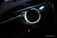 eye of tiger (alcyphoto91) Tags: auto red italy 3 eye art car japan canon faro eos japanese photo foto tiger led soul motor 40 mazda occhio tigre giappone luce giapponese photograpy 40d