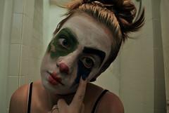 (Emily Ciaccio) Tags: blue green halloween girl make up bathroom clown makeup creepy messy freakshow
