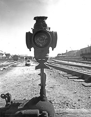 [Signal Switch, Texas & Pacific Railway Company] (SMU Central University Libraries) Tags: trains tp railroads railroadsignals texaspacificrailway railroadyards texasandpacific railroadswitches