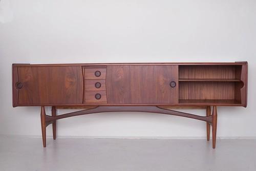 Danish teak and mahogany sideboard