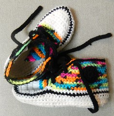 Running shoe slippers (Jeannette Greaves) Tags: shoe crochet style running rb slippers socute size4