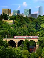 Luxembourg view (pecsilinda) Tags: city trip travel summer canon eos europe view union eu luxembourg kirchberg 2014 europen 600d