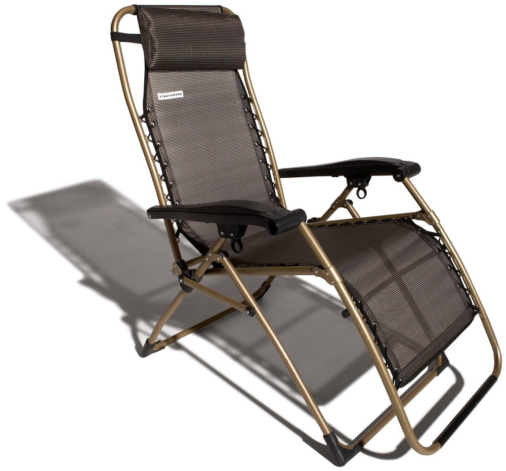 Patio Furniture By Strathwood Basics Anti Gravity Adjustable Recliner Chair  (Patio Furniture Outdoor Furniture)