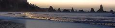 Third Beach: Racing Dawn (matt_co) Tags: ocean morning sun seascape beach dawn washington waves pacific northwest olympicpeninsula olympics olympicnationalpark seastacks