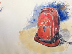 Lesson 6, red back pack second looser version (MikeKemps) Tags: