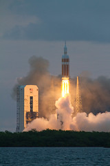 Delta IV Heavy Lifts Orion