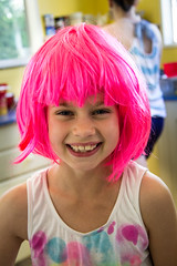 Caroline Wigging Out (grantg59@xtra.co.nz) Tags: red cute girl smile wig colourful 9yo
