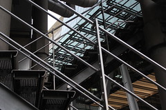 (heatherelawrence) Tags: building architecture stairs steel line lloyds lloydsbuilding canon60d