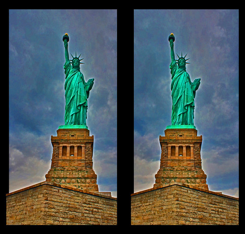 Lady Liberty in 3D HDR