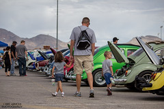 Family Affair (Eric Arnold Photography) Tags: auto show family vegas bus car kids vw volkswagen kid dad lasvegas nevada daughter son nv event holdinghands bud 2014 atomobile bugorama